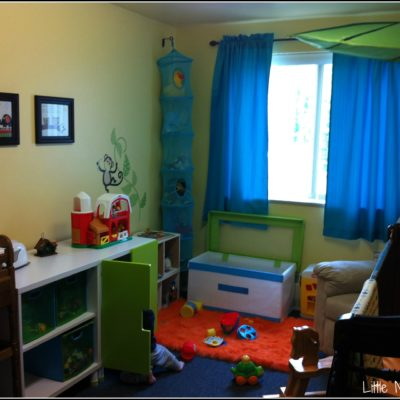 C's First Room: Lime, Aqua and Orange Nursery