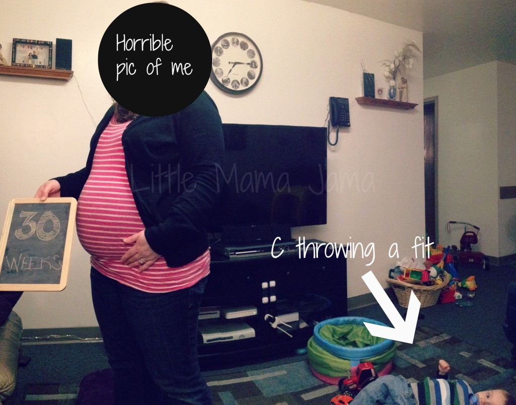 Our 30-week picture attempt fail!