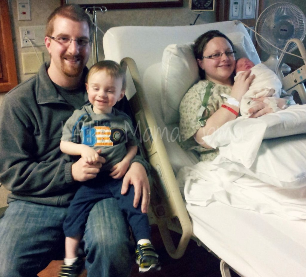 first family photo in hospital 2013