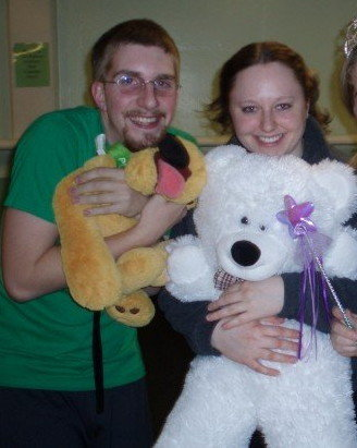 At a pajama and teddy bear themed hall government meeting in 2006.