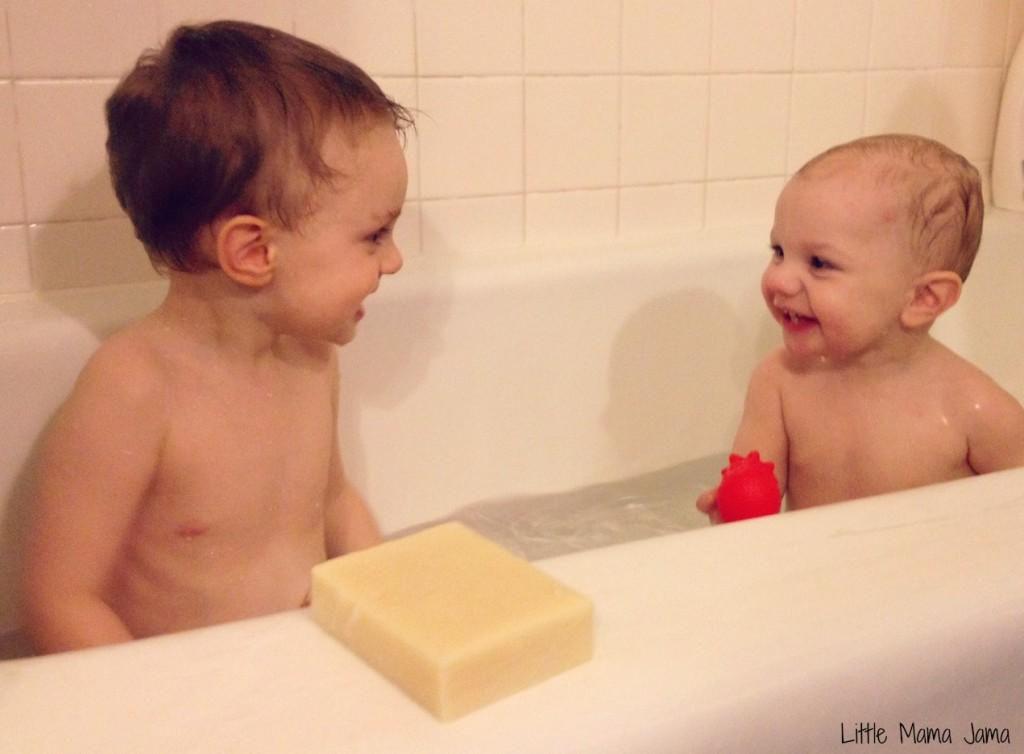 Bath night for C and Baby Jo #LittleMamaJama