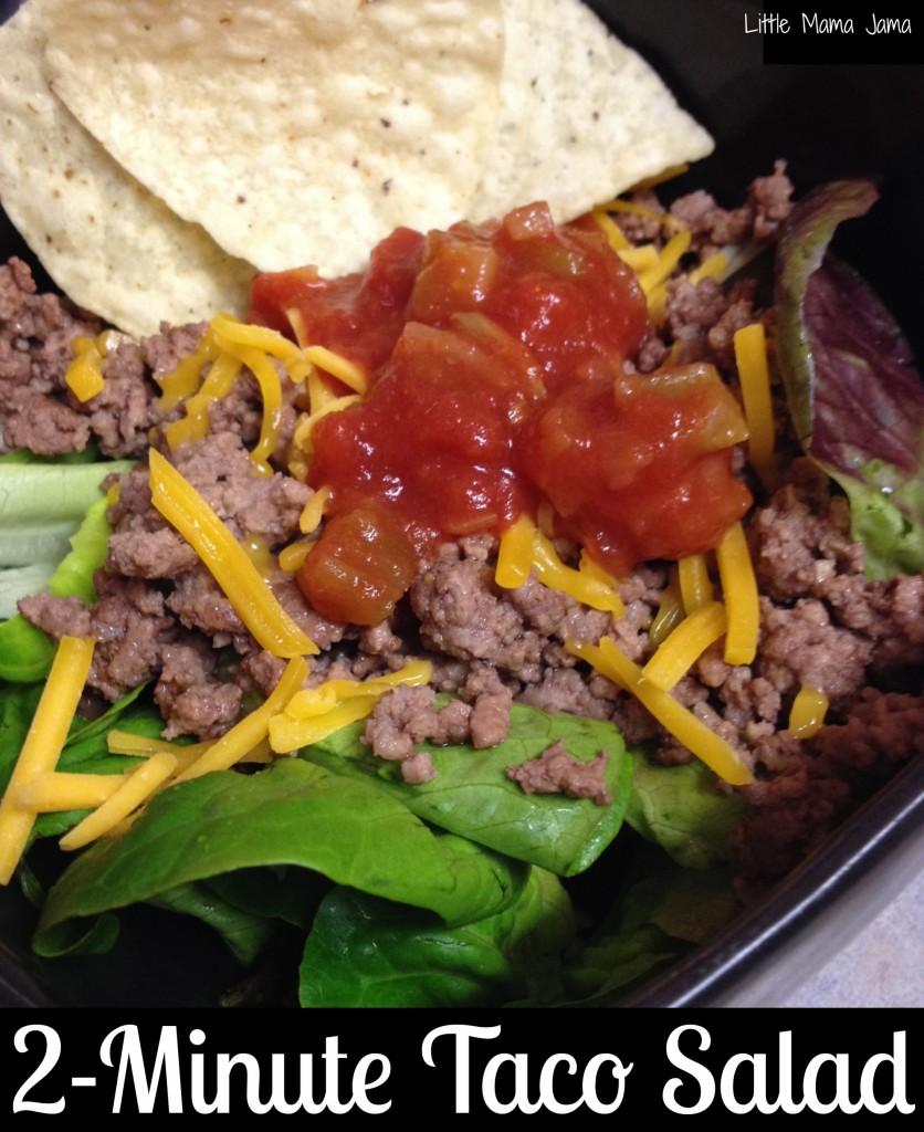 2-Minute Taco Salad #saladswap #momsmeet