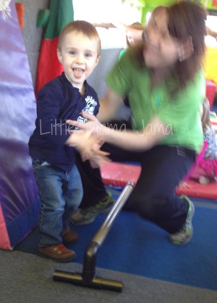 Toddler enjoying Bouncin' Bus