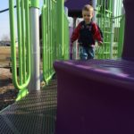 (Kinda) Wordless Wednesday: Hubster Takes the Kids to the Park
