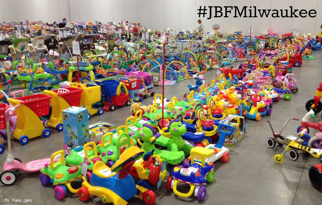 #JBFMilwaukee rows of ride on toys