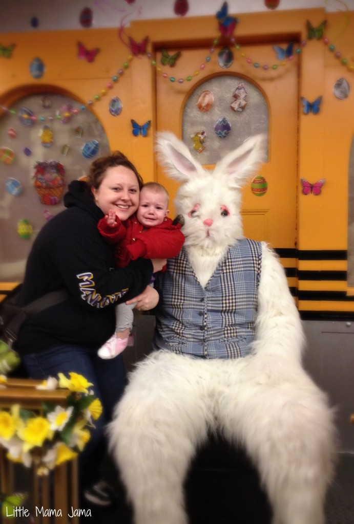 Meeting the Easter Bunny at The Great Bunny Train