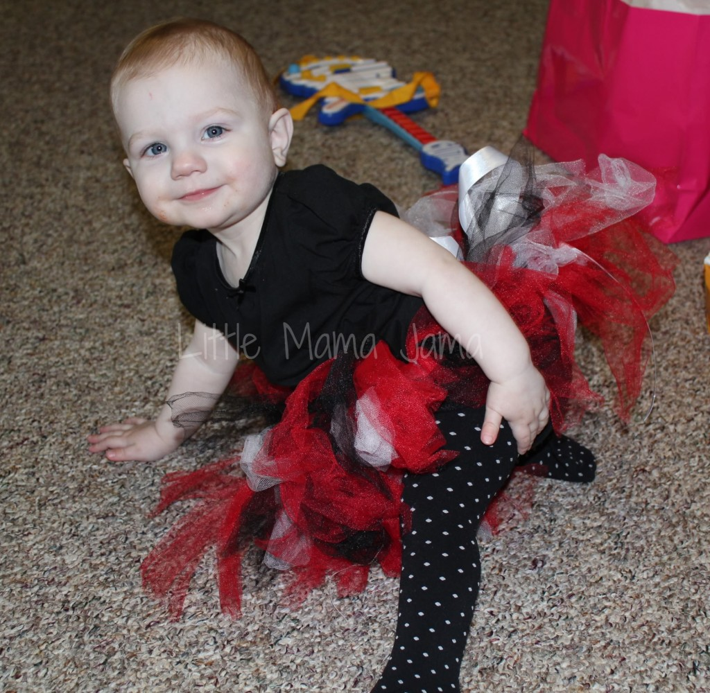 Baby Jo in Cars-inspired tutu for Disney Cars first birthday party - Little Mama Jama