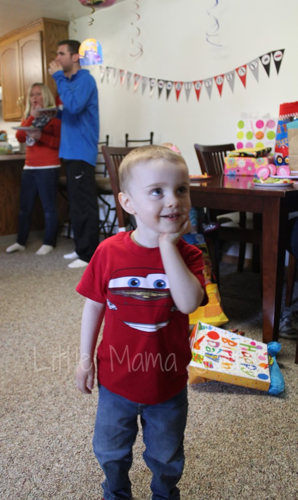 C at his Disney Cars themed third birthday party - Little Mama Jama