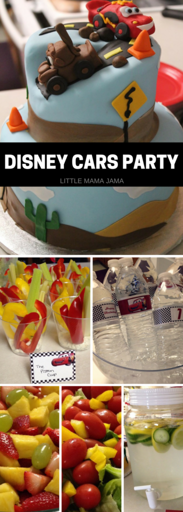 Here's some food, cake and decoration inspiration for your Disney Cars Party!