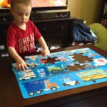 (Kinda) Wordless Wednesday: C Finishes a Puzzle by Himself!