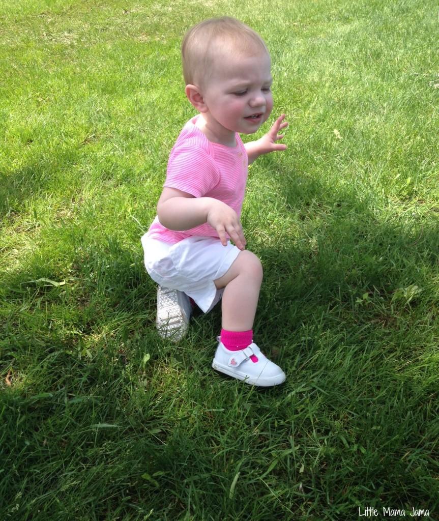 Baby Jo plays in grass #MyPicknSave #shop
