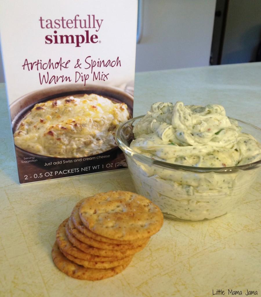 Jalapeño, Artichoke & Spinach Dip #TastefullySimple