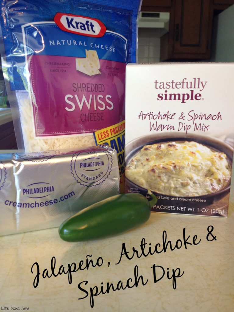 The perfect warm appetizer dip: Jalapeño, Artichoke & Spinach Dip