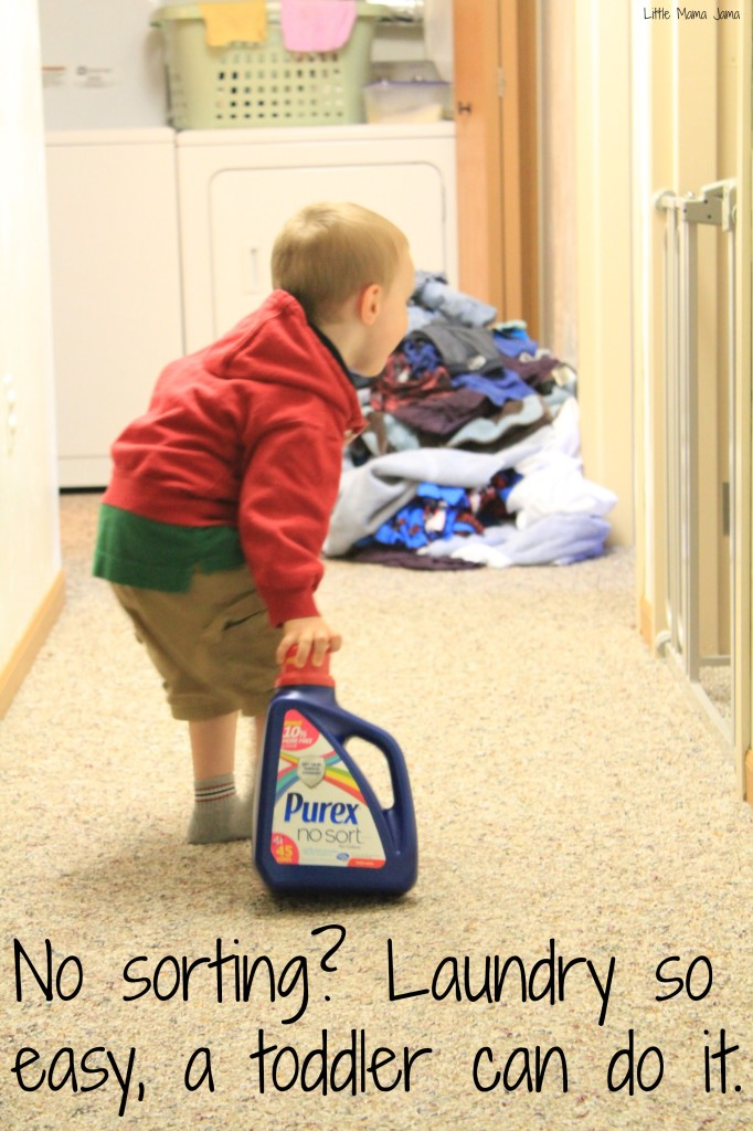 No sorting laundry? So easy a toddler can do it