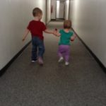 (Kinda) Wordless Wednesday: Best Friends in the Hall