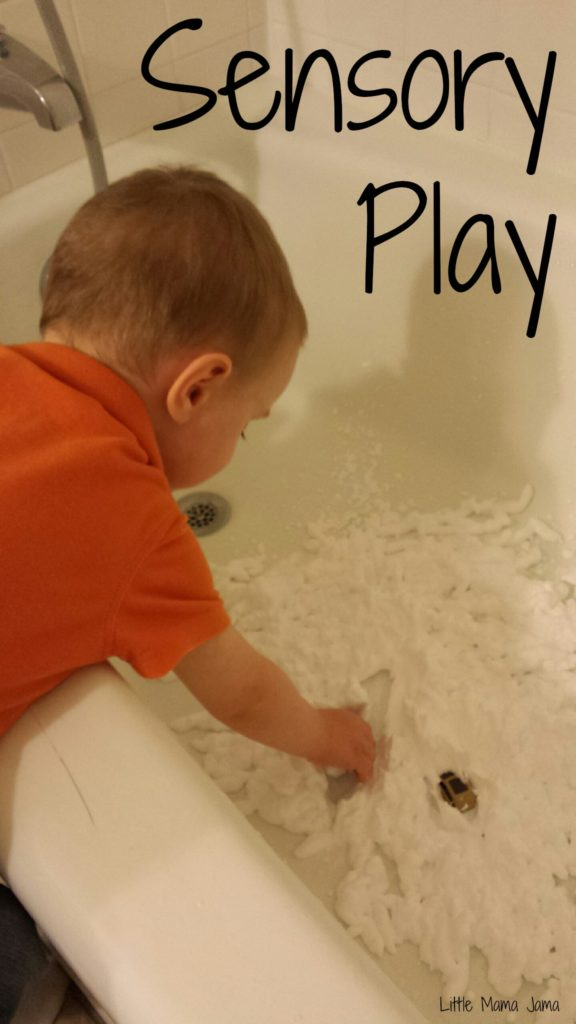 Sensory Play: Shaving Cream and Cars