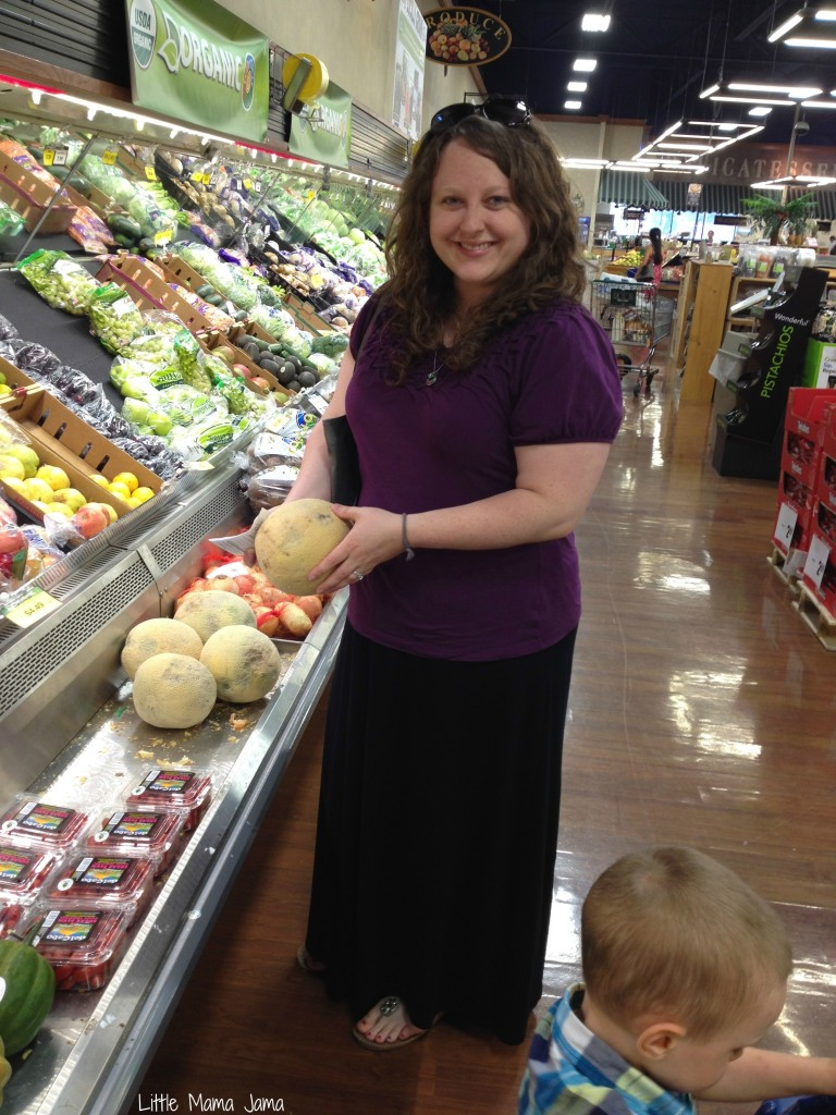Selecting a melon at PIck 'n Save #MyPicknSave #shop