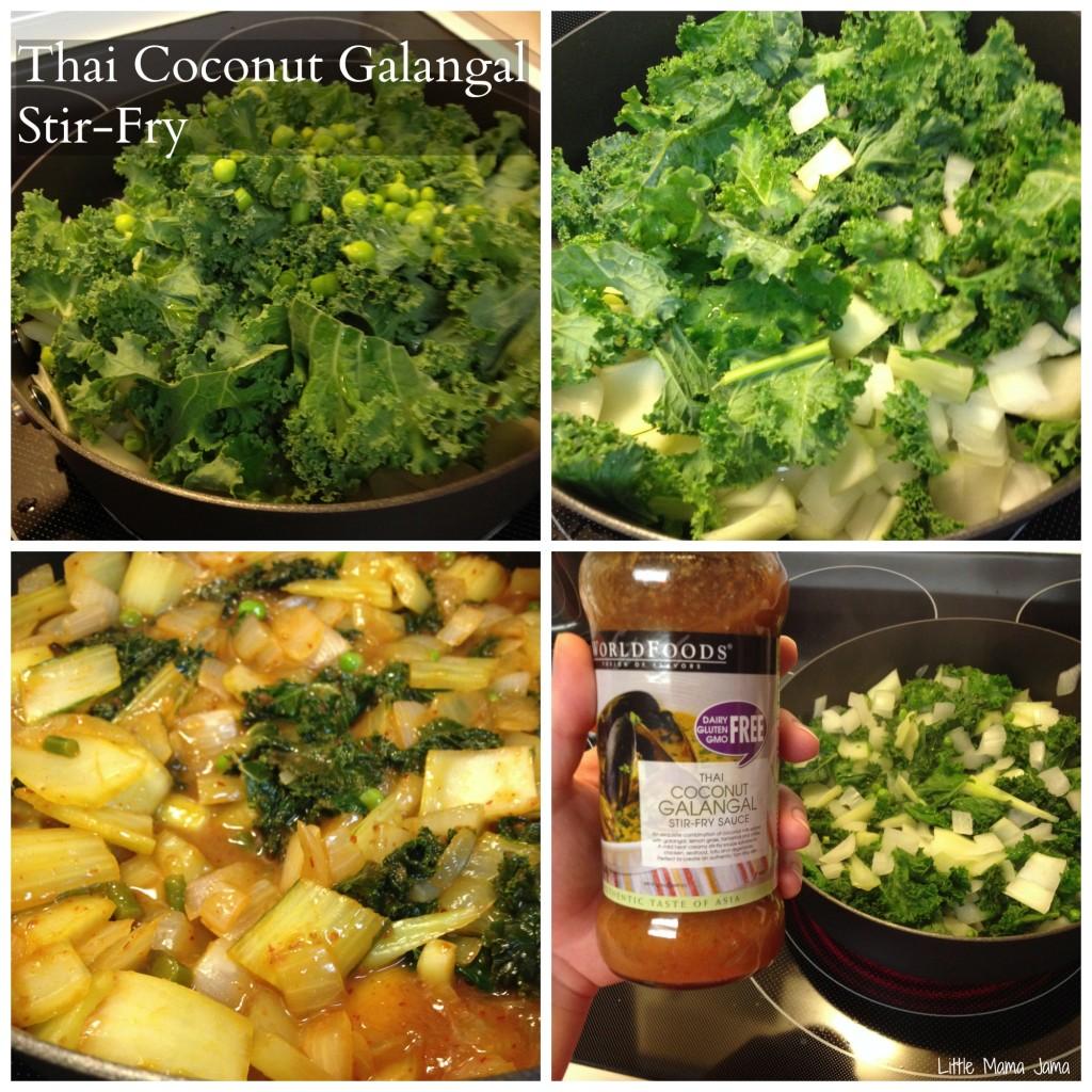 Thai Coconut Galangal Stir-Fry #momsmeet #worldfoods