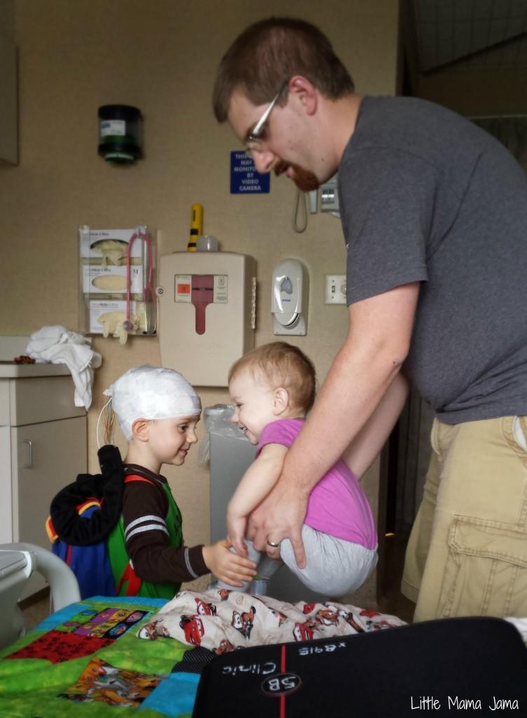 Toddler inpatient EEG video monitoring #LittleMamaJama