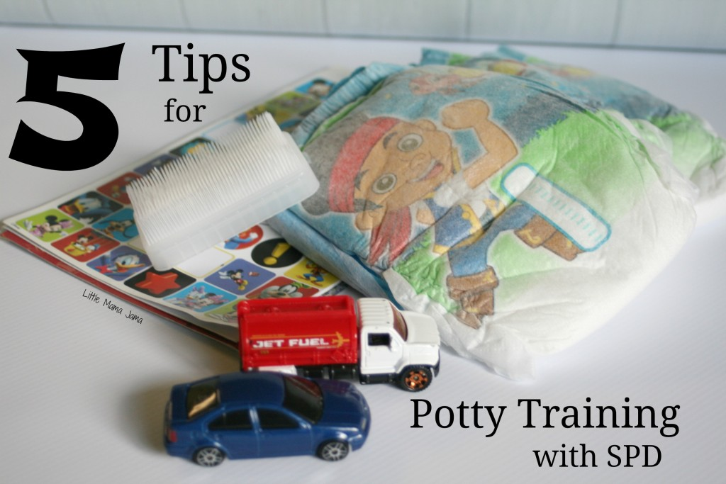 5 Potty Training Tips for Your Toddler with SPD #sponsored