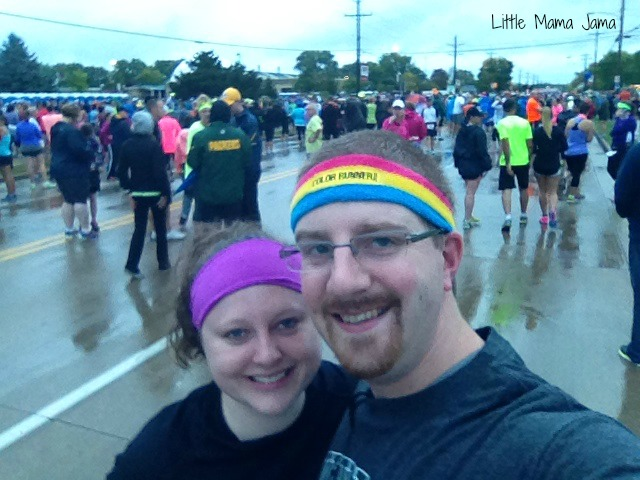 Hubster and Kristin ready for half marathon