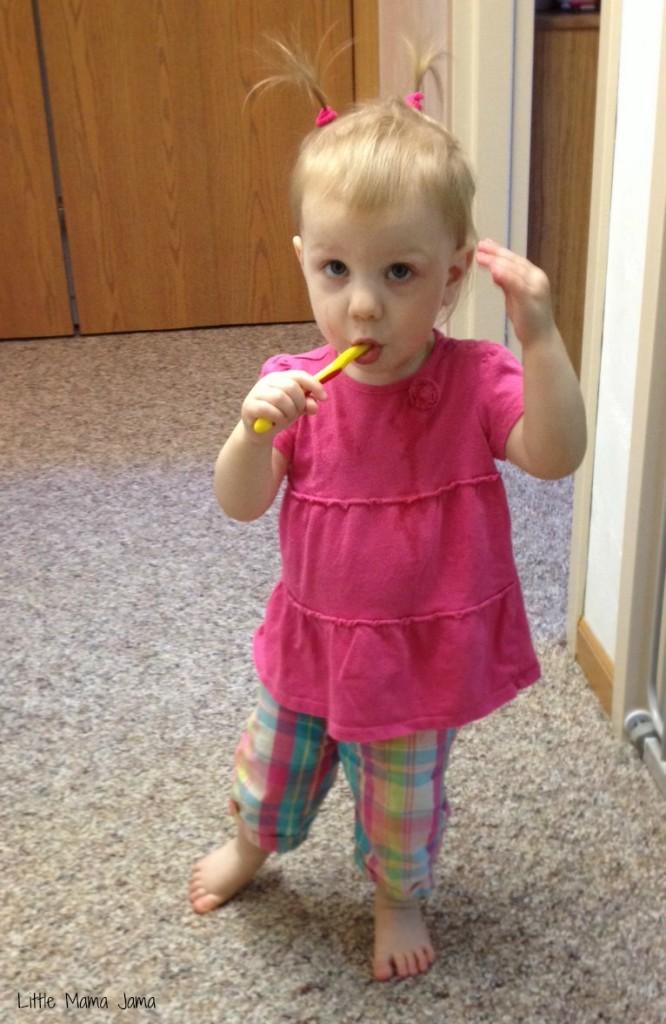 Baby Jo wears pigtails #LittleMamaJama