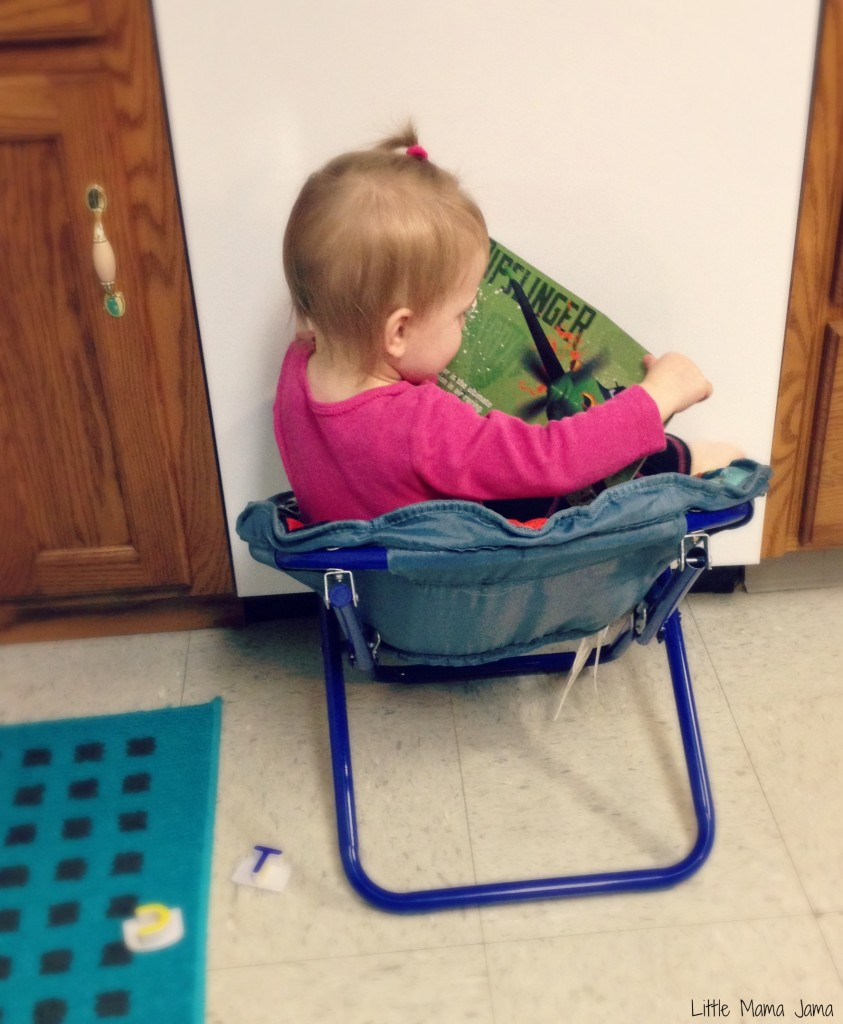 Baby Jo in self-imposed time out