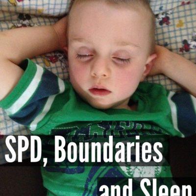 SPD, Boundaries and Sleep