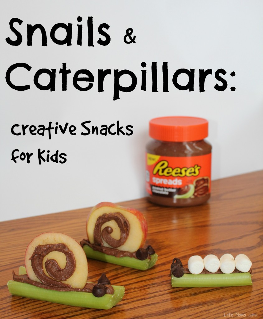 Snails & Caterpillars Creative Snacks for Kids #AnySnackPerfect #shop