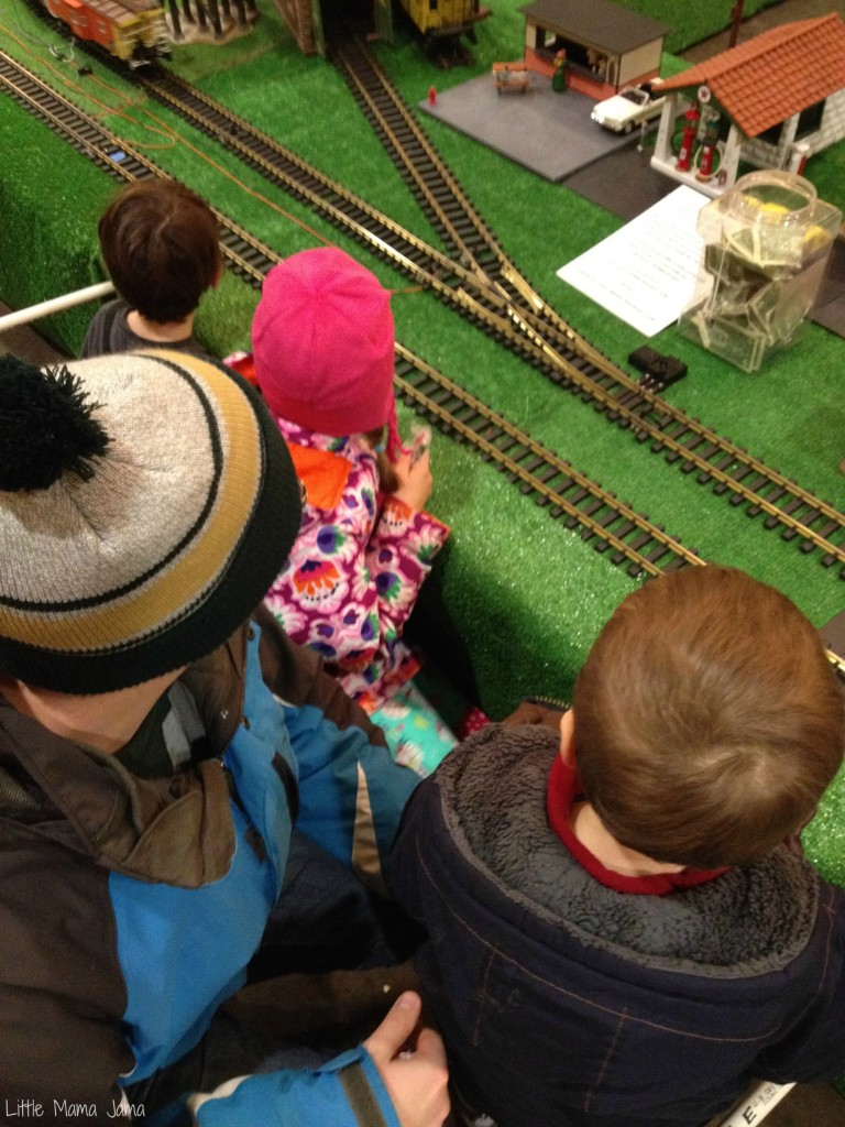 Holiday trains with family