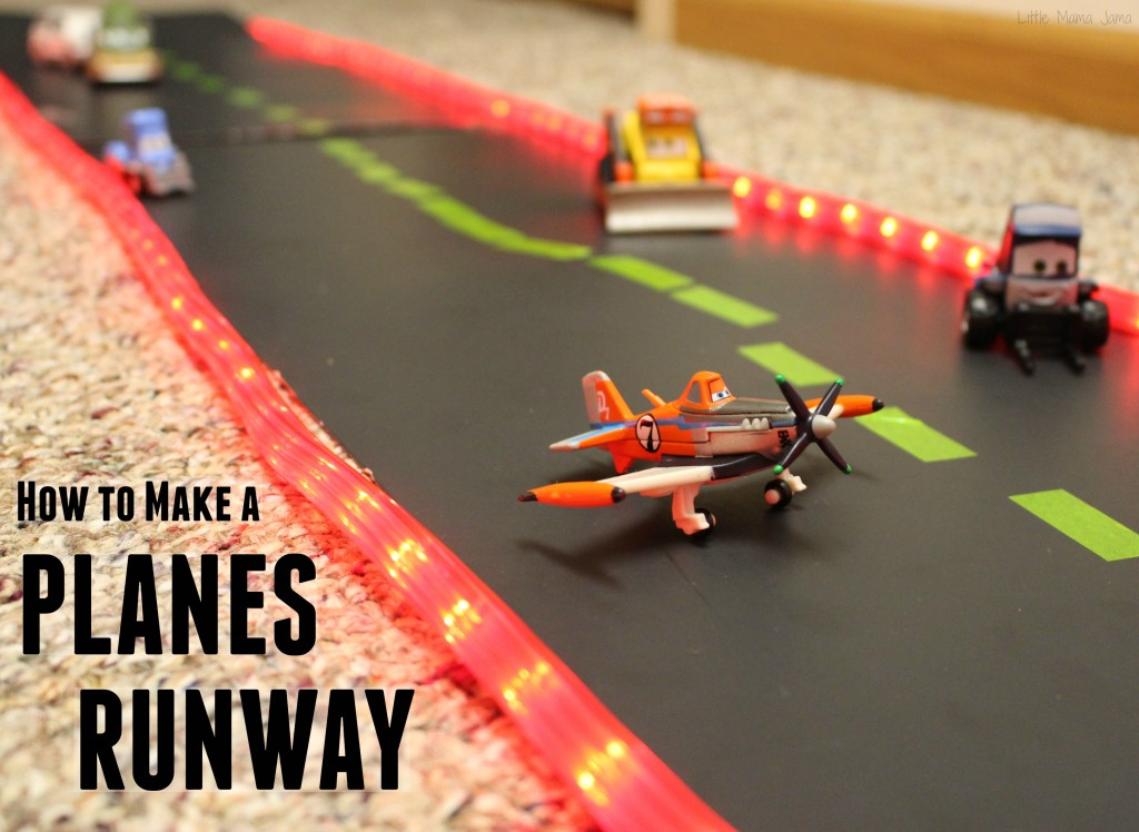 How to Make a Planes Runway with Holiday Rope Lights