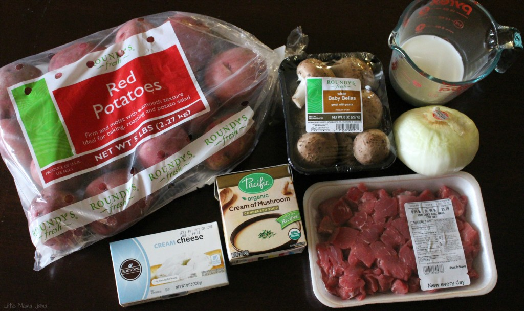 Ingredients for Grain-Free Beef Stoganoff