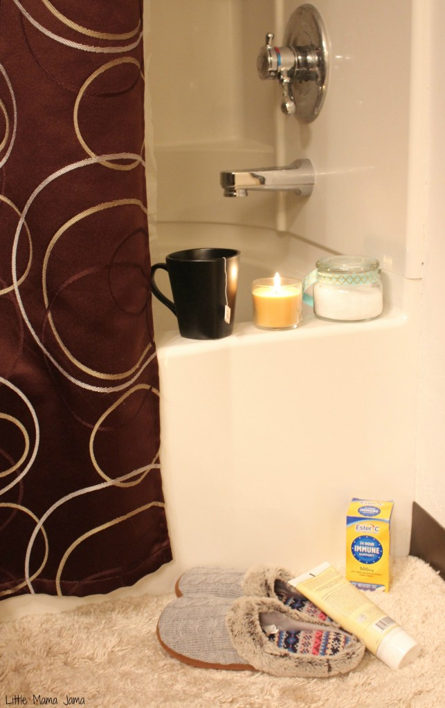 Relaxing self-care basket for holiday guests #24HourEsterC #Ad