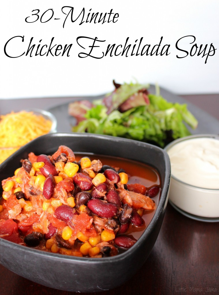 30-Minute Chicken Enchilada Soup Recipe #MyPicknSave #ad