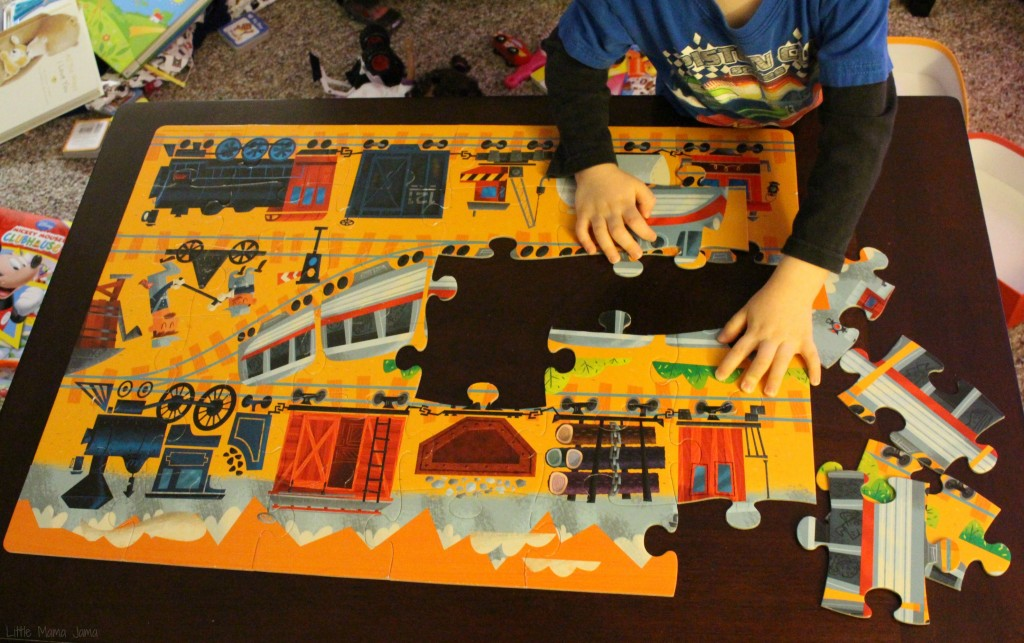 """I'm going to do the train puzzle."""