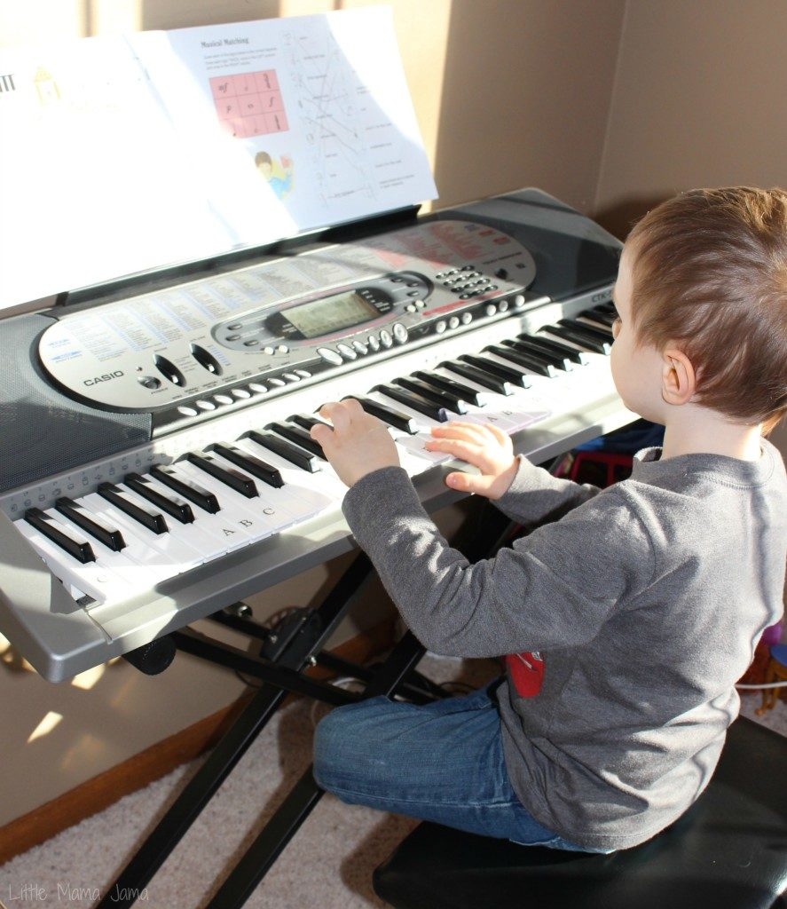 C playing piano