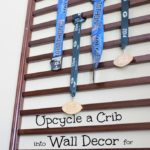 Easy DIY! Upcycle a Crib into Wall Decor for Race Medals