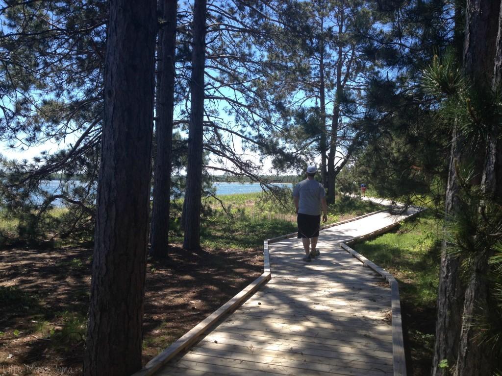 Walk at Big Bay Town Park
