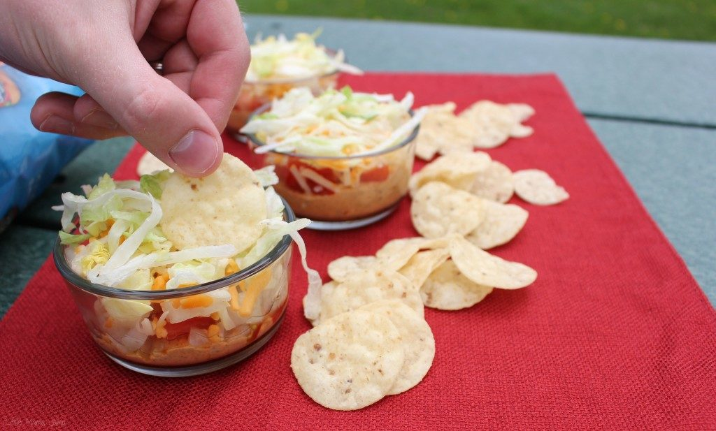 Dip and go with 5-layer chili cheese dip