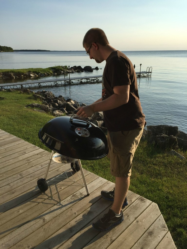 Grilling at the cottage in Door County