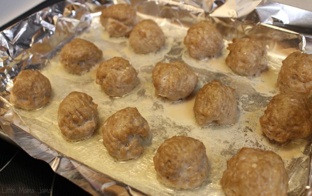 Cooked Italian Turkey Meatballs