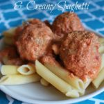 {Recipe} Italian Turkey Meatballs and Creamy Spaghetti