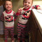 (Kinda) Wordless Wednesday: Matching Pajamas