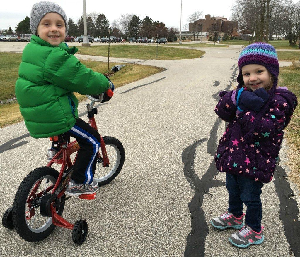 C Rides a Bike!