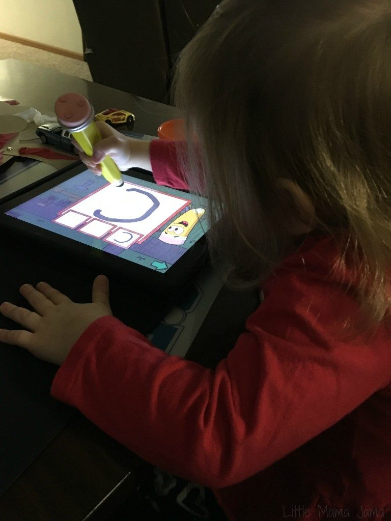 Learning to write on iPad