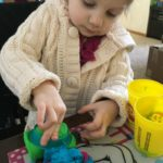 Baby Jo Creates with Play-doh