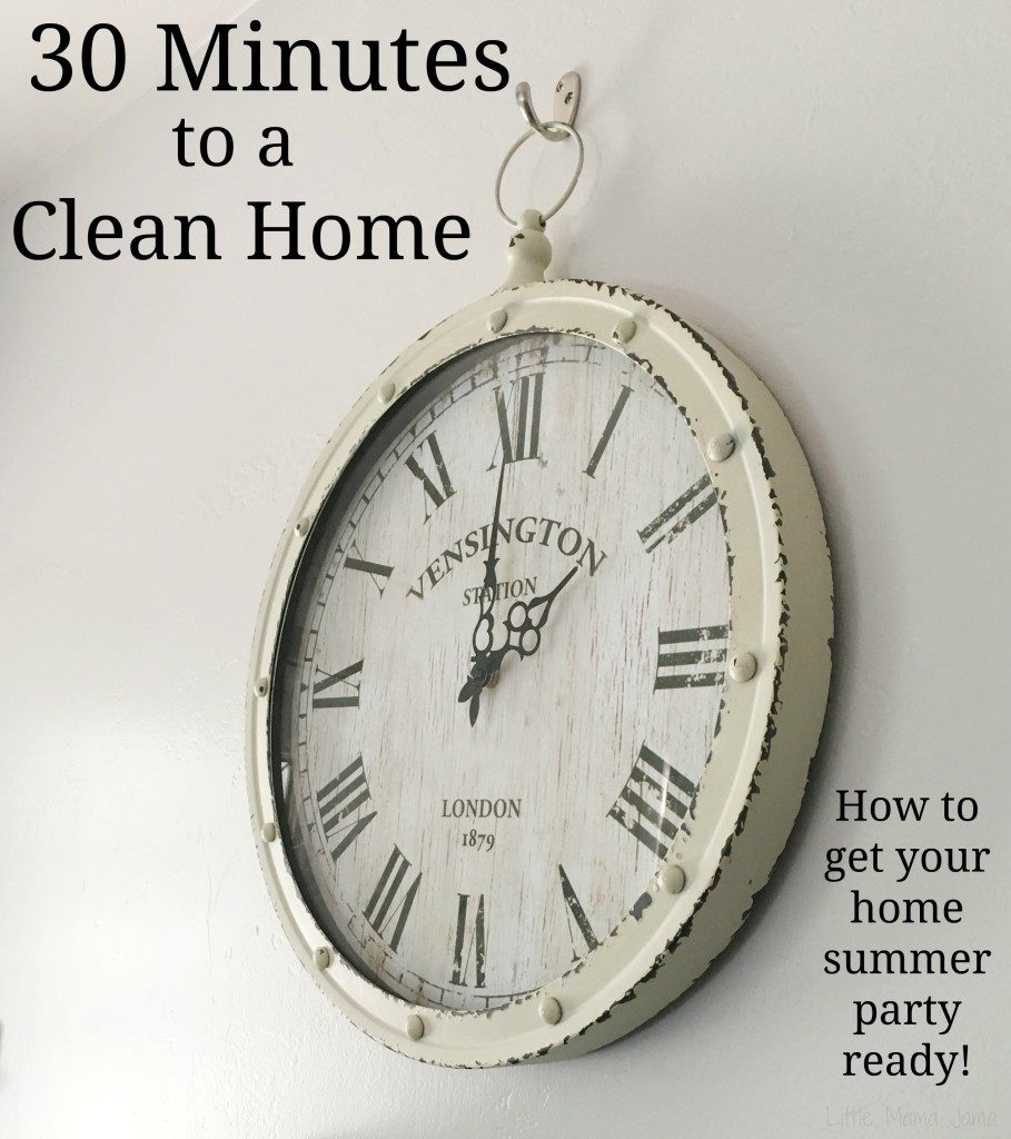 30 Minutes to a Clean Home #EnjoyTheGo #ad