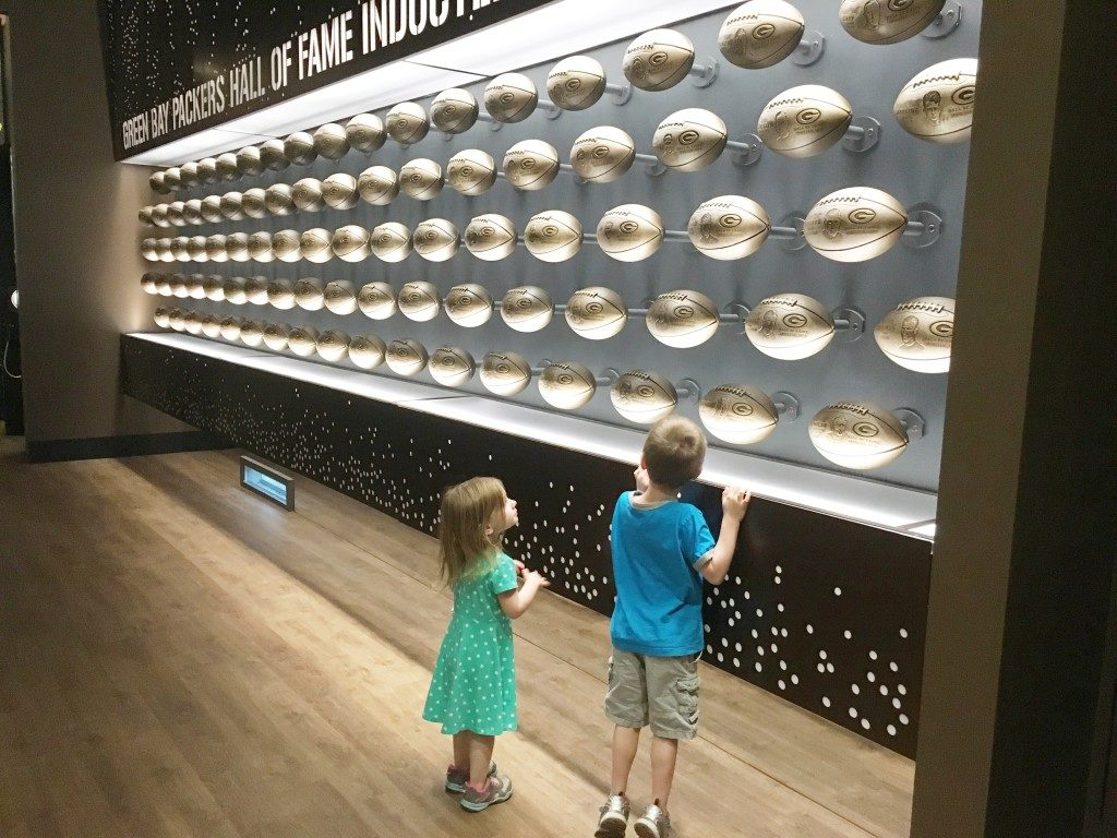 Kids at the Packers Hall of Fame