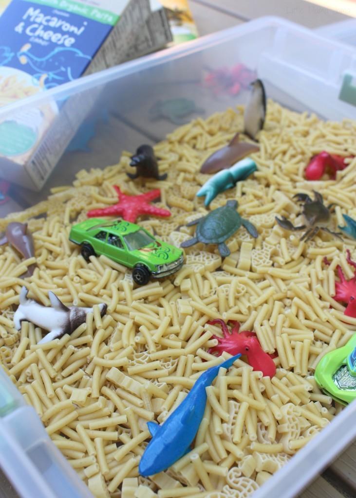 Add macaroni and toys #BackToPlay ad