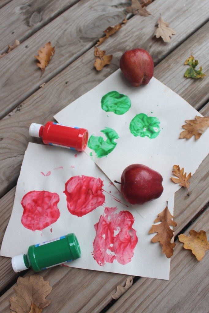 Apple Stamping Activity for Preschoolers